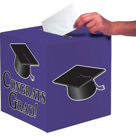 Purple Congrats Grad Card Box
