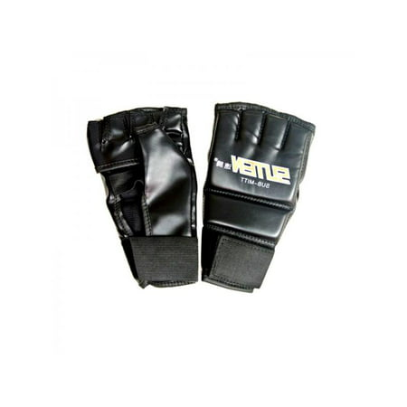 VICOODA Half Finger Fingerless Breathable MMA Boxing Gloves with Wrist Protection Wrap Kickboxing Sparring Fight Punching Palm Empty PU Leather Mitts Fitness Fighting