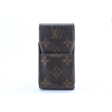new style 0bcd4 2d109 Etui Cigarette Or Mobile Case 225481 Brown Monogram Canvas Clutch