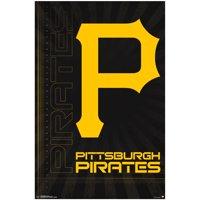 "Pittsburgh Pirates 23"" x 34"" Logo Wall Poster"