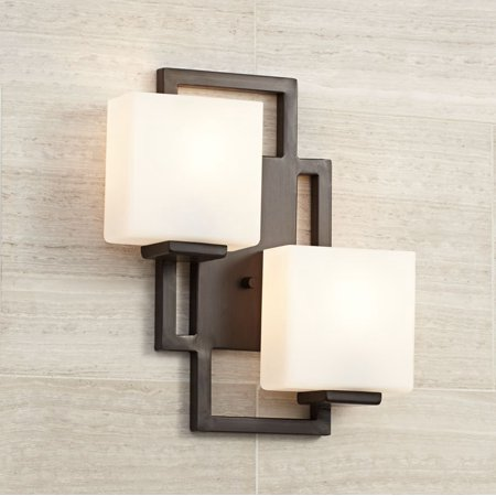 Possini Euro Design Modern Wall Light Bronze 15 1/2
