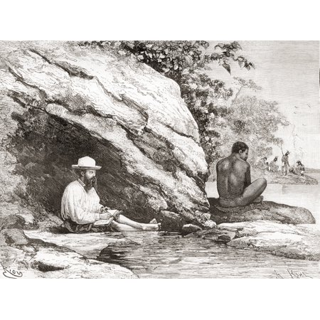 Jules Crevaux During His Exploration Of French Guiana In 1878 Sat In The Shade Of A Rock On The Banks Of The Oyapock Or Oiapoque River South America In The 19Th Century Jules Crevaux 1847 Canvas Art