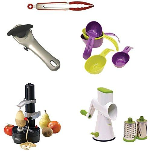 Starfrit 814103022599 Gadget Kit With Rotato Express, Tongs, Can Opener, Measuring Cups, Drum