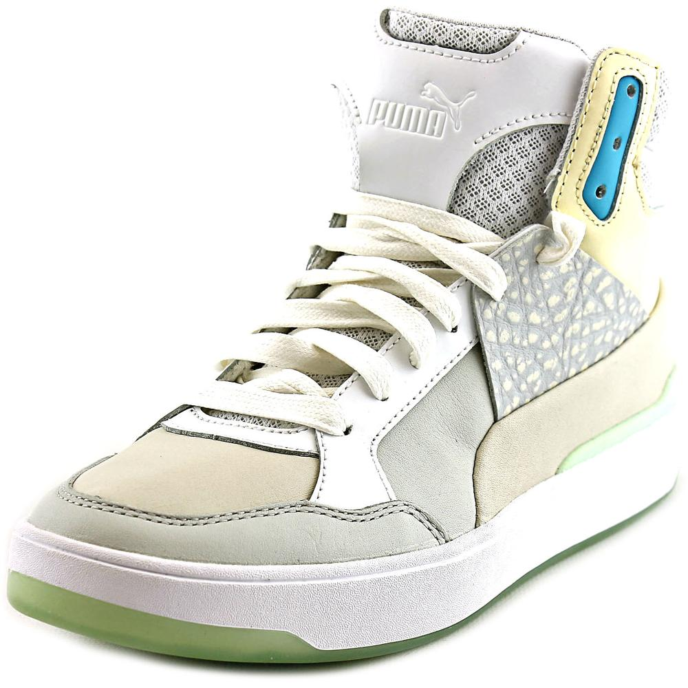 Alexander McQueen By Puma MCQ Brace Femme Mid Women  Leather White Sneakers