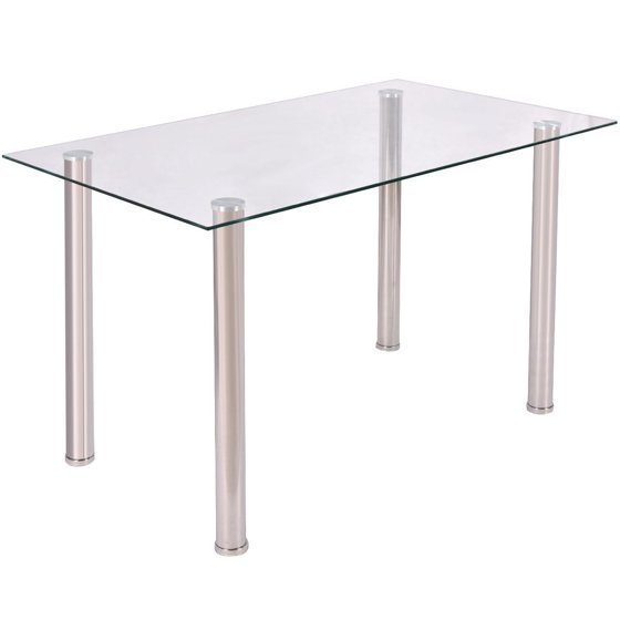 Clear glass top dining table for Glass top dining table next