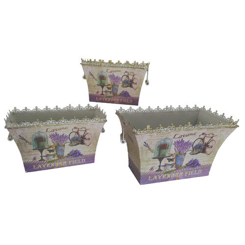 Dolce Mela French Country Planters Vintage in a Set of 3