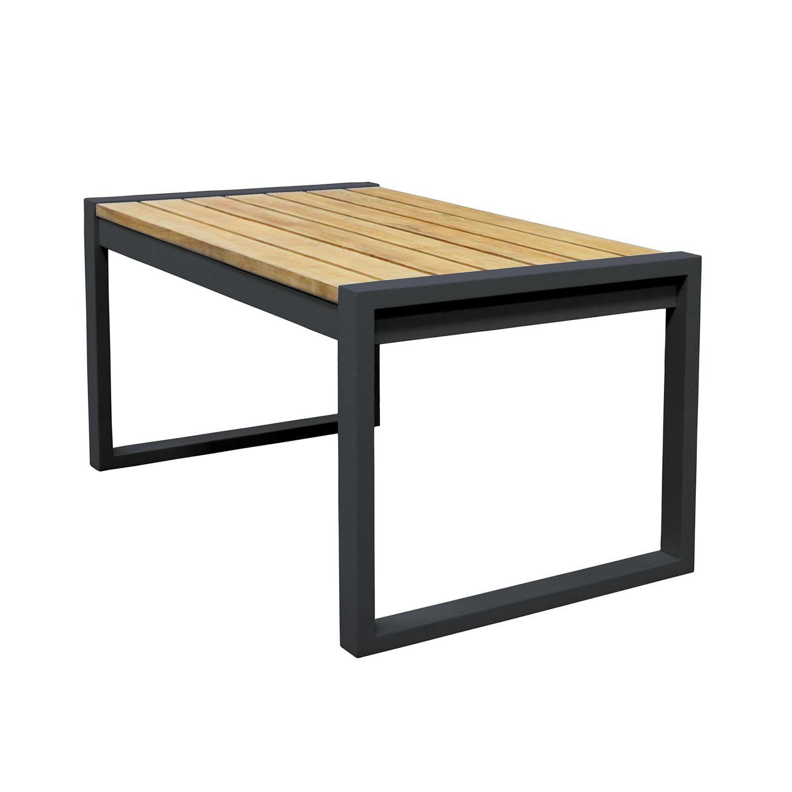 Asta Home Furnishings California Room Classic Style Teak Iron Patio Coffee Table by Asta