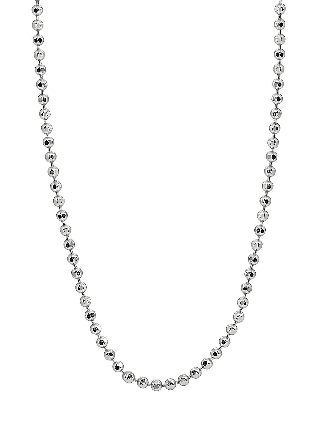 Sterling Silver Diamond-Cut Shot Bead Chain Necklace