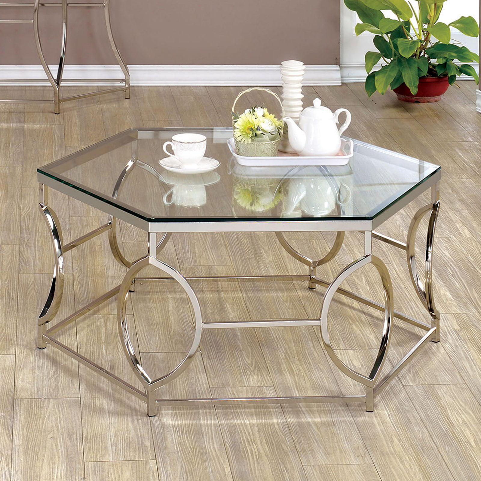 Furniture of America Remus Hexagonal Coffee Table