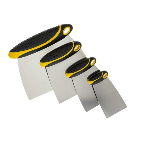Custom Shop 4-Piece Set of Carbon Spring Steel Body Filler and Putty Spreaders/Scraper Set with Handles 2