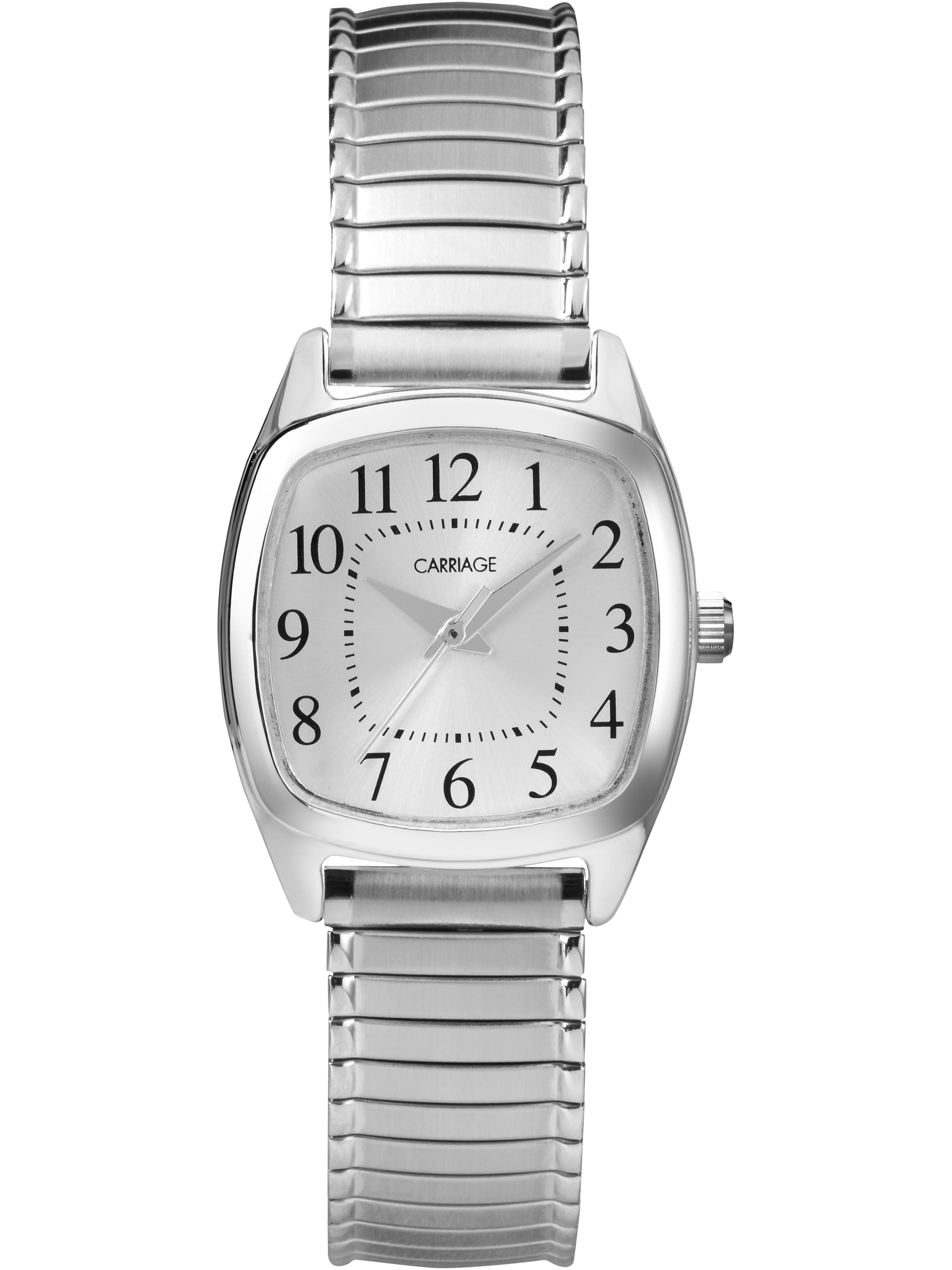 Carriage by Timex Women's Courtney Watch, Silver-Tone Stainless Steel Expansion Band