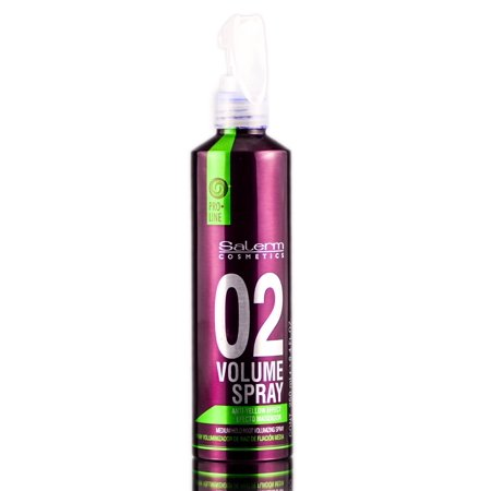 Salerm- 02 Volume Spray- Anti-Yellow Effect- Medium Root Volumizing Spray - 8.4 oz - Lanza Root Effects