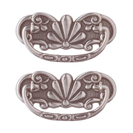 2 Cabinet Pull Pewter Solid Brass Scalloped Bail | Renovator's Supply Solid Pewter Pull