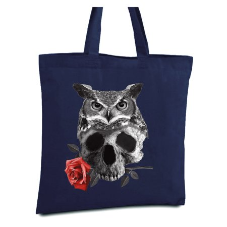 Owl Gift Bags (Awkward Styles Owl Bag Owl with Skull Bags Owl Gifts Skull Party Day of the Dead Skull Accessories Gothic Gifts for He Dia de Los Muertos)