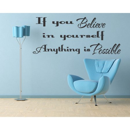 Believe In Yourself Wall Quote Wall Art Decal Vinyl Inspirational Sticker 138 (Inspirational Quotes For Halloween)