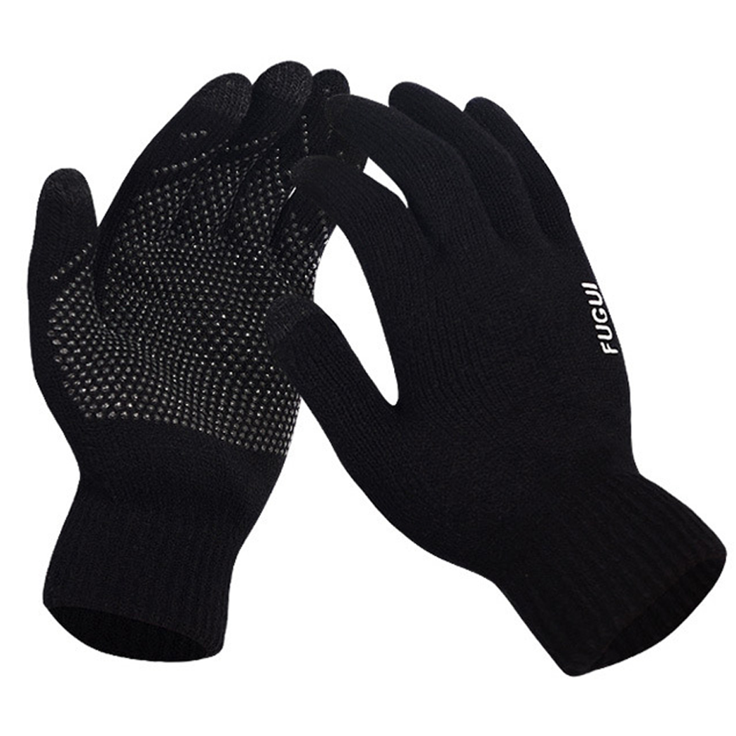 Coxeer Touch Screen Gloves Winter Warm Wool Gloves Cycling Gloves Skiing Gloves for Couples and Lovers