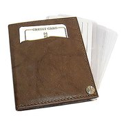 Gem Avenue Leather Cowhide Credit Card Holder Wallet Available in Different Colors