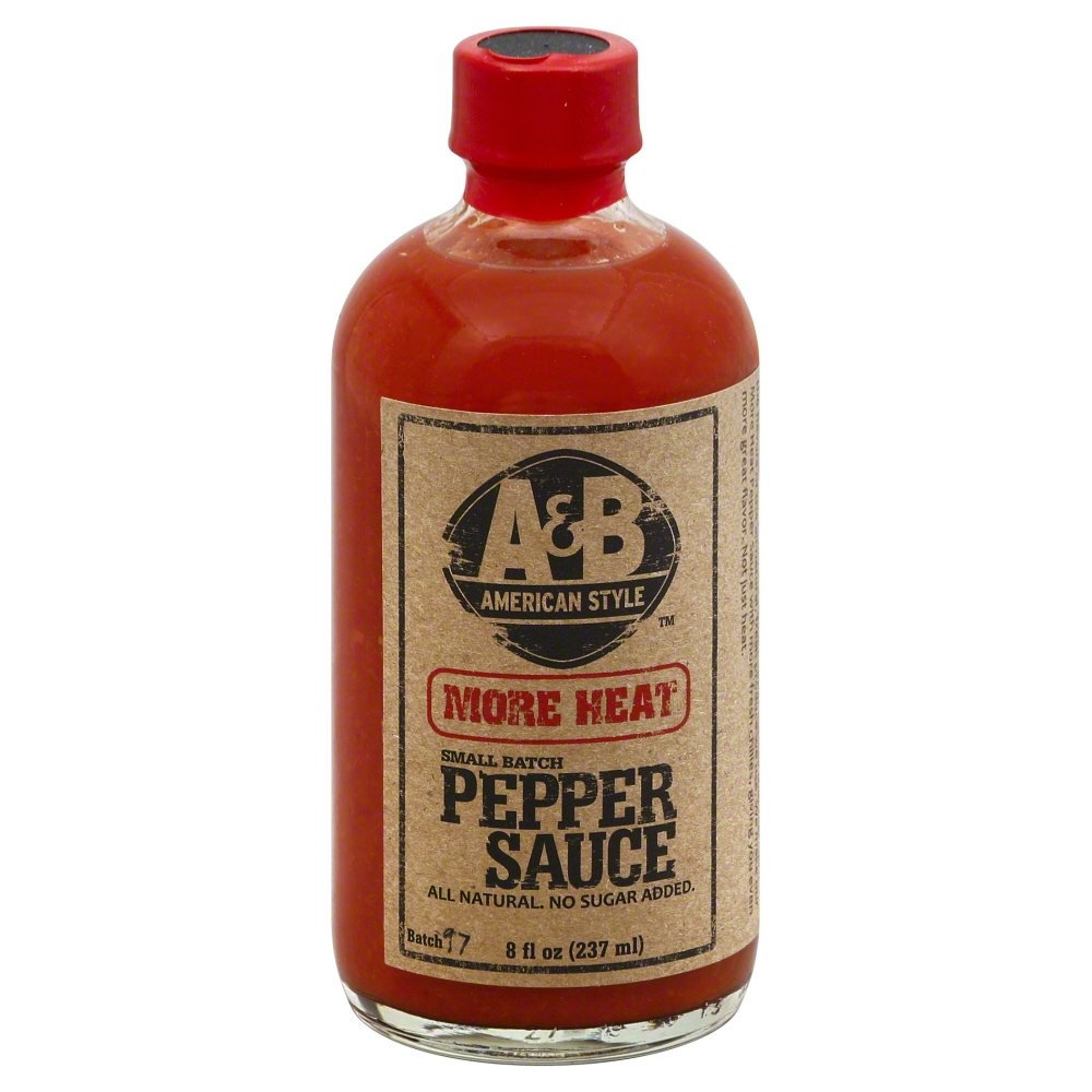 Image of A American Style More Heat Pepper Sauce, 8 Oz