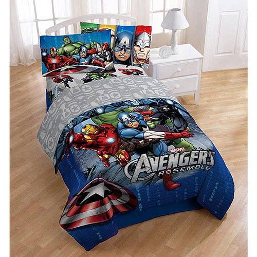 Marvel Heroes Marvel Avengers Twin Sheet Set Walmart Com