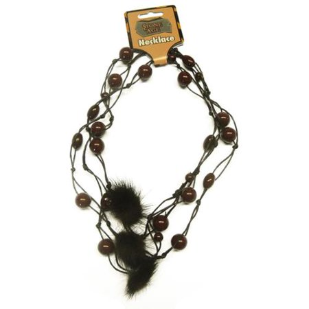 Caveman Woman Stone Age Barbarian Adult Costume Necklace](Stone Age Cavemen)