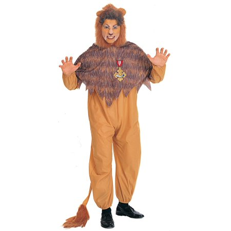 Plus Size Cowardly Lion Men's Costume - Size 46