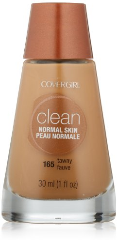 CoverGirl Clean Liquid Makeup, Tawny (N) 165, 1.0 Ounce Bottle