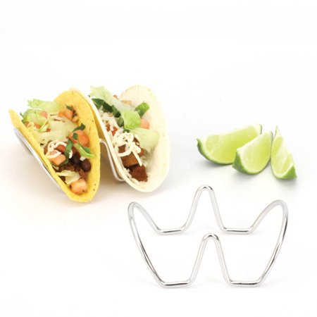 Home Depot Molding - 2LB Depot Taco Holder, Taco Stand, Taco Rack, Premium 18/8 Stainless Steel, Taco Holders Hold 2 Hard or Soft Shell Tacos, Set of Two