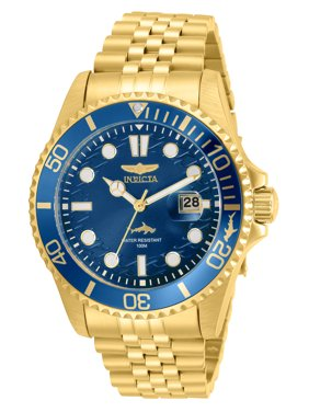 Invicta Pro Diver Men's Gold Stainless Steel Blue Dial Watch - Model 30612