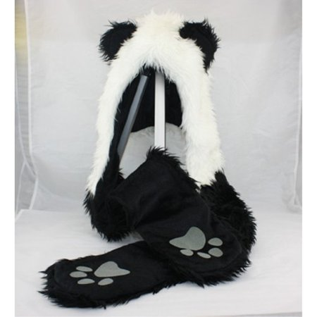 Panda Animal Hood Faux Fur Hat with Warm Scarf Mittens Ears and Paws Spirit  - Walmart.com 61bf2d460a5