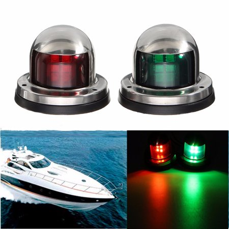 Universal 12v Stainless Steel Led Bow Red Green