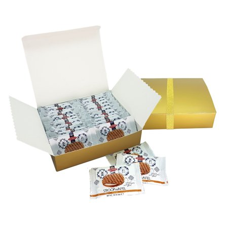 Daelmans Caramel Stroopwafels Mini Single Pack 24 Pieces Gold Gift Boxed