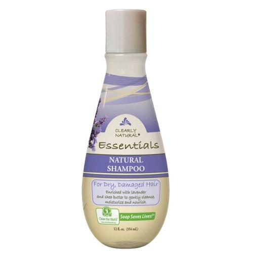Natural Shampoo for Dry Damaged Hair Clearly Natural 12 oz Liquid