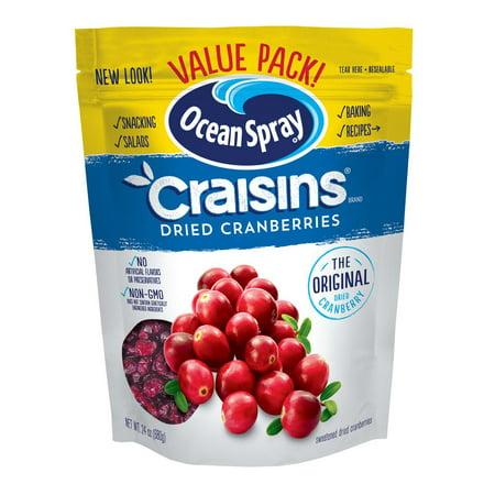 Ocean Spray Craisins Gluten-Free The Original Dried Cranberries Value Pack, 24 Oz. (Dried Fruit Platter)
