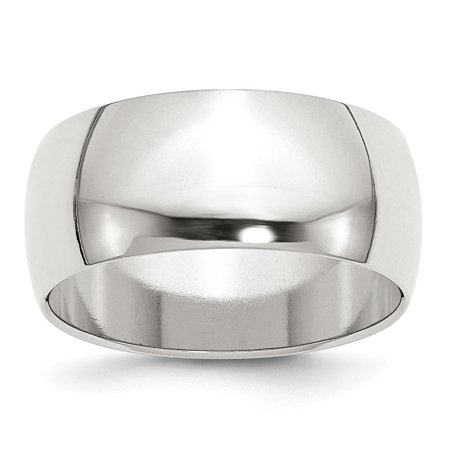 9 Mm Round Ring - .925 Sterling Silver 9 MM Half-Round Wedding Band Ring, Size 7 MSRP $93