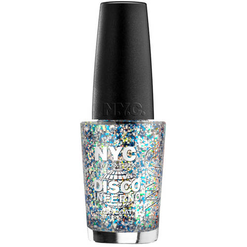 NYC New York Color In a New York Color Minute Top Coat Nail Polish, Disco Inferno, 0.33 fl oz