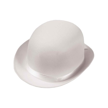 Deluxe Adult Formal White Derby Bowler Costume Coke Hat