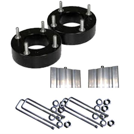 Airbagit LEVEL-FO-150-F-4b Lift Ford F150 - Mark Lt 3 & 4 in. 2004 - 2014 Front & Rear Leveling Spacers Block -