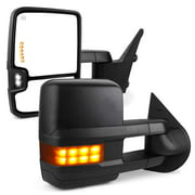 YITAMOTOR Towing Mirrors for Chevy GMC, Power Heated LED Arrow Signals Reverse Lights Tow Mirrors, for 2007-2013 Chevy Silverado GMC Sierra, 2014 Chevy Silverado 2500HD 3500HD