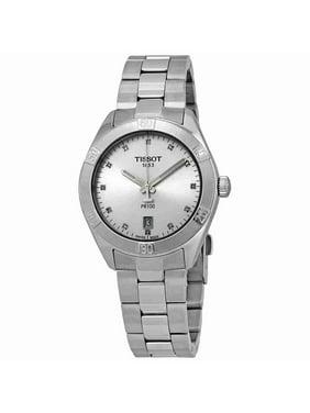 Tissot PR 100 Diamond Silver Dial Ladies Watch T101.910.11.036.00