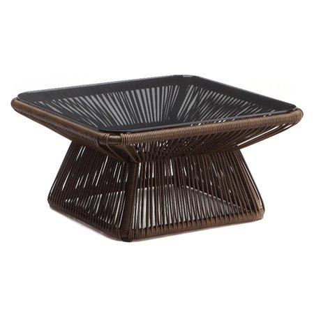 Image of 100 Essentials Borneo Wicker Patio Coffee Table