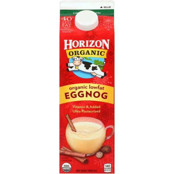 Horizon Organic Low Fat Eggnog 1 Quart Walmart Com Walmart Com