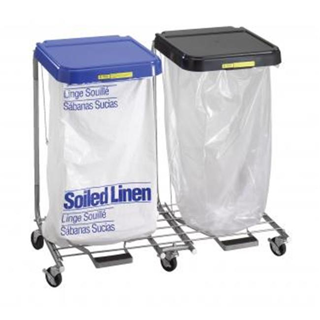 R & B Wire 694 Double Medium Duty Hamper with Foot Pedal