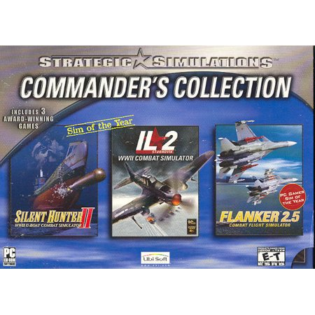 3 Strategic Simulations PC Game Pack ~ IL-2 Sturmovik Combat Flight SIM, Flanker 2.5 and Silent Hunter II (Rise Of Flight Pc Game)