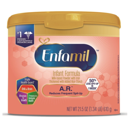 Enfamil A.R. Infant Formula - Clinically Proven to reduce Spit-Up in 1 week - Reusable Powder Tub, 21.5 oz