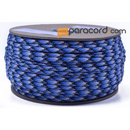- Bored Paracord Brand 550 Type III Paracord - Blue Snake - 250 Feet Spool