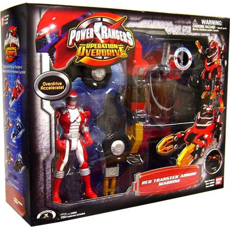Power Rangers Operation Overdrive Red Transtek Armor Machine Action Figure Set (Power Armor Fallout)