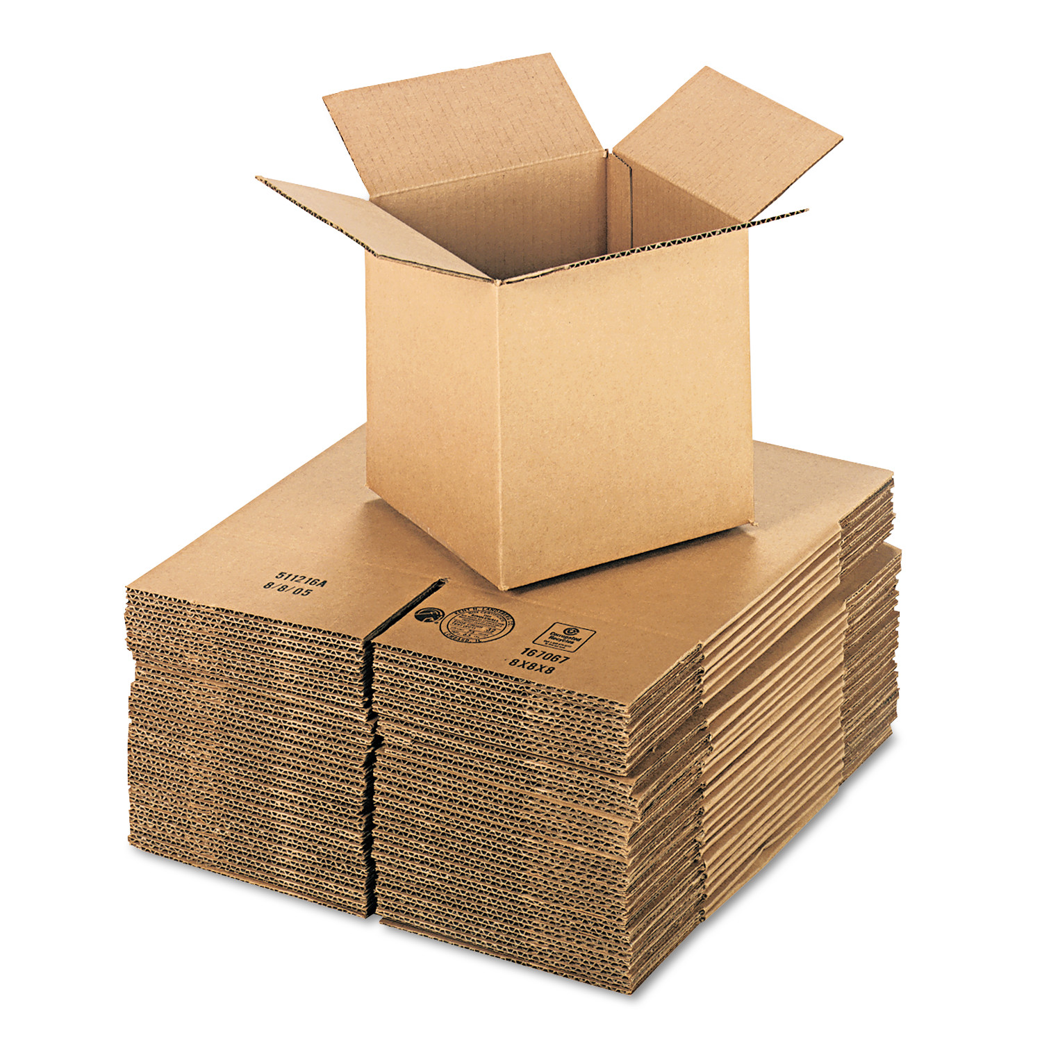 General Supply Brown Corrugated - Cubed Fixed-Depth Shipping Boxes, 8l x 8w x 8h, 25/Bundle -UFS888