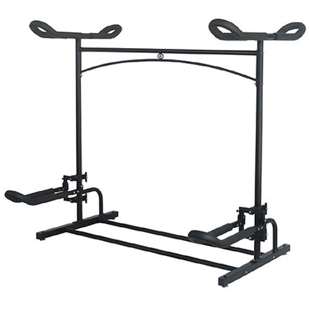 Stoneman Sports Sparehand Laguna Plus 2-Kayak Rack with 1 Foldable Cradle and 1 Flat Top Cradle, Black