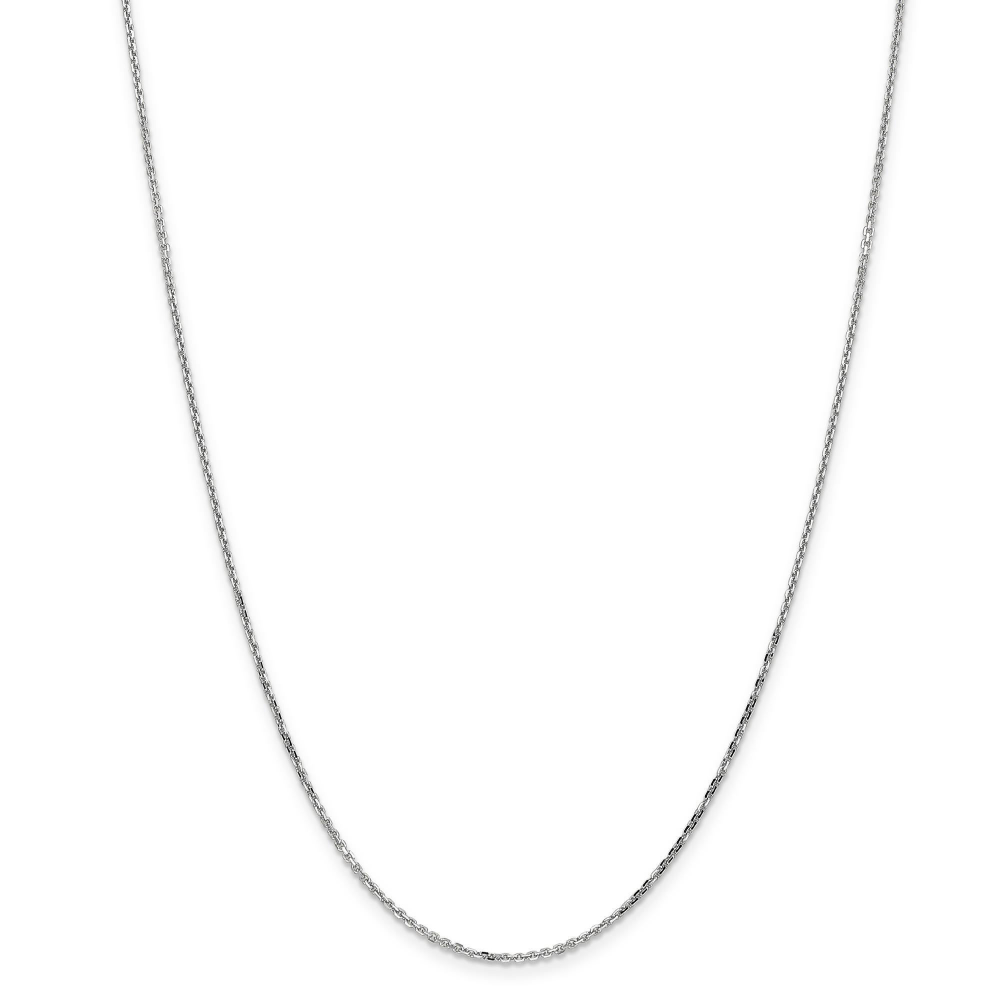 14K White Gold 1.40mm Diamond Cut Cable Chain 16 Inch - image 5 de 5