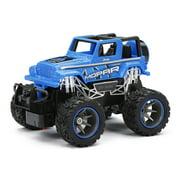 New Bright RC Trucks 1:24 Scale Radio Control Mopar Jeep Wrangler - Blue
